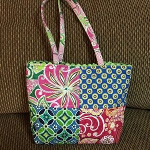 VERA BRADLEY Small Cotton Quilted Patchwork Tote